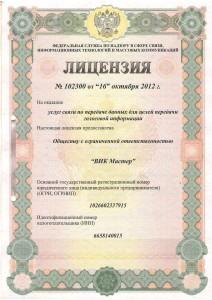 Лицензия 102300