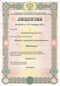Лицензия 102301